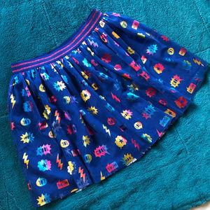 Cat & Jack tutu - rainbow blue - 10/12
